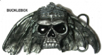 King of Death - Heavy Belt Buckle + display stand. Code AO4